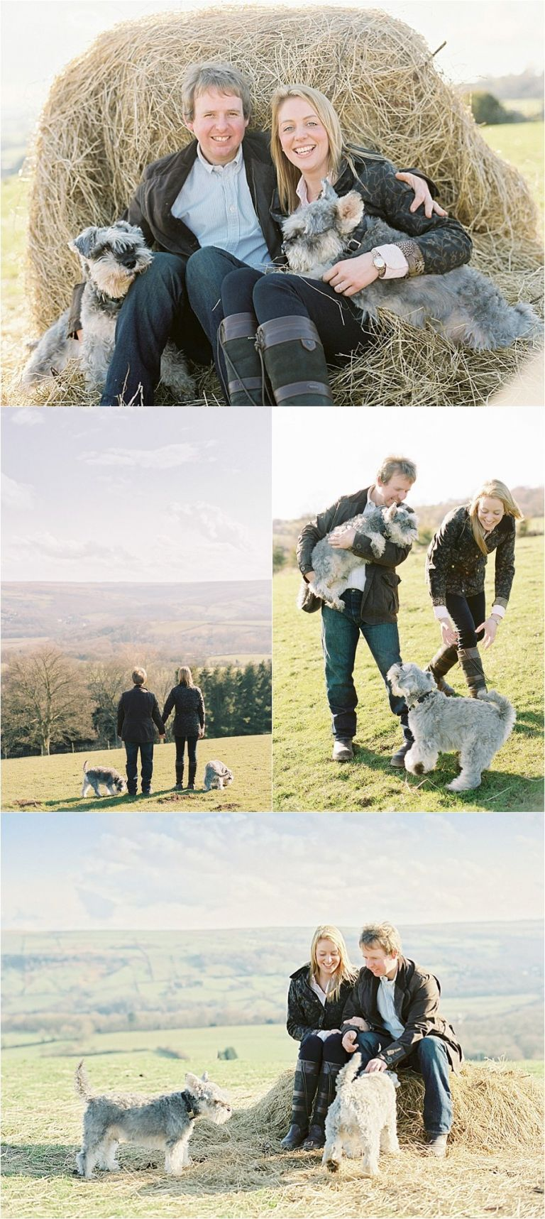 couple portraits with dogs