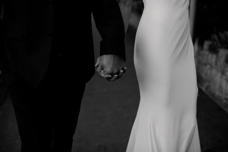 Yorkshire Wedding Photography Holding hands