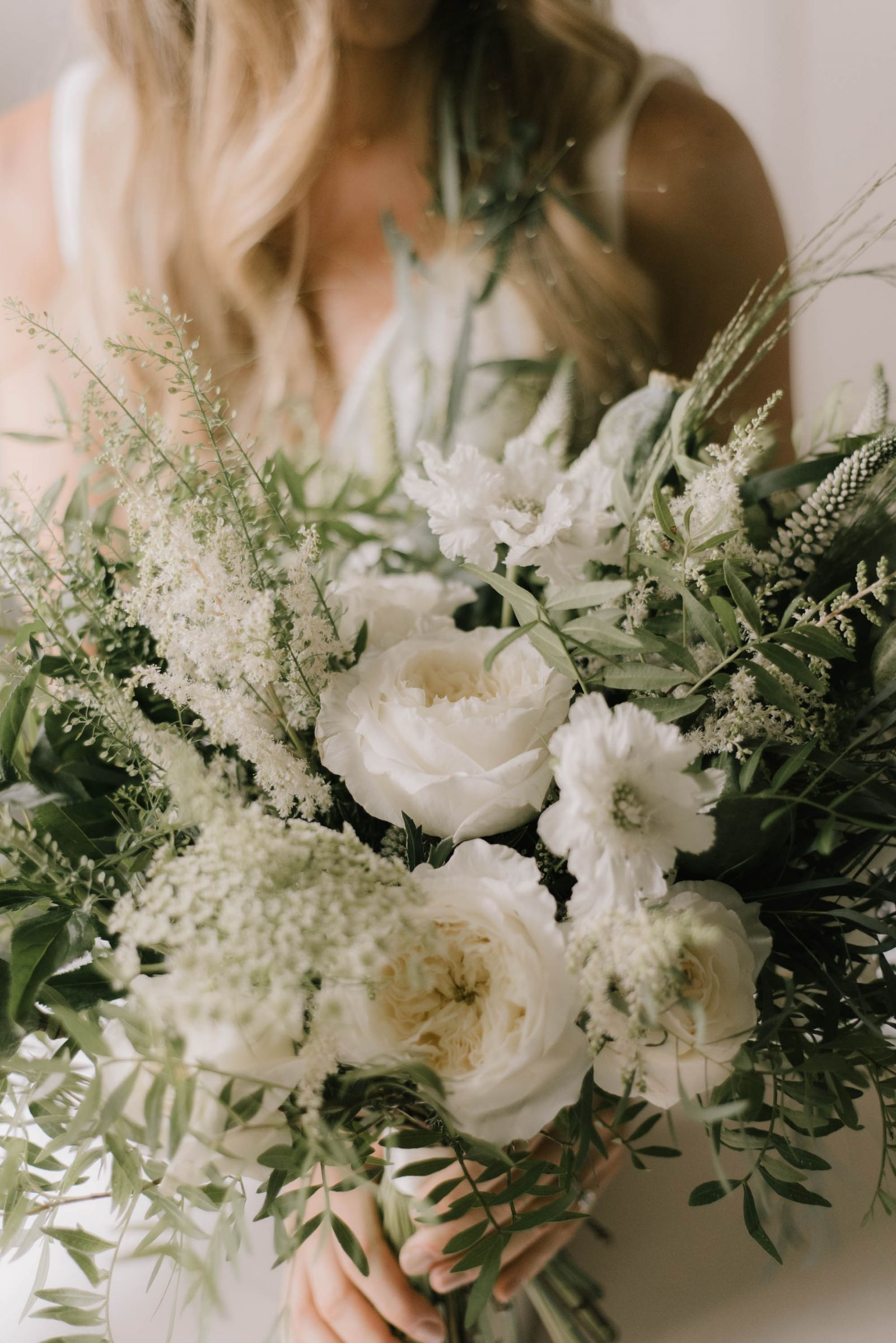 Gorgeous detail shot of brides bouquet