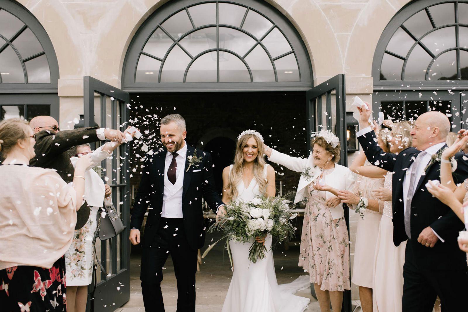 Yorkshire Wedding Photography confetti moments
