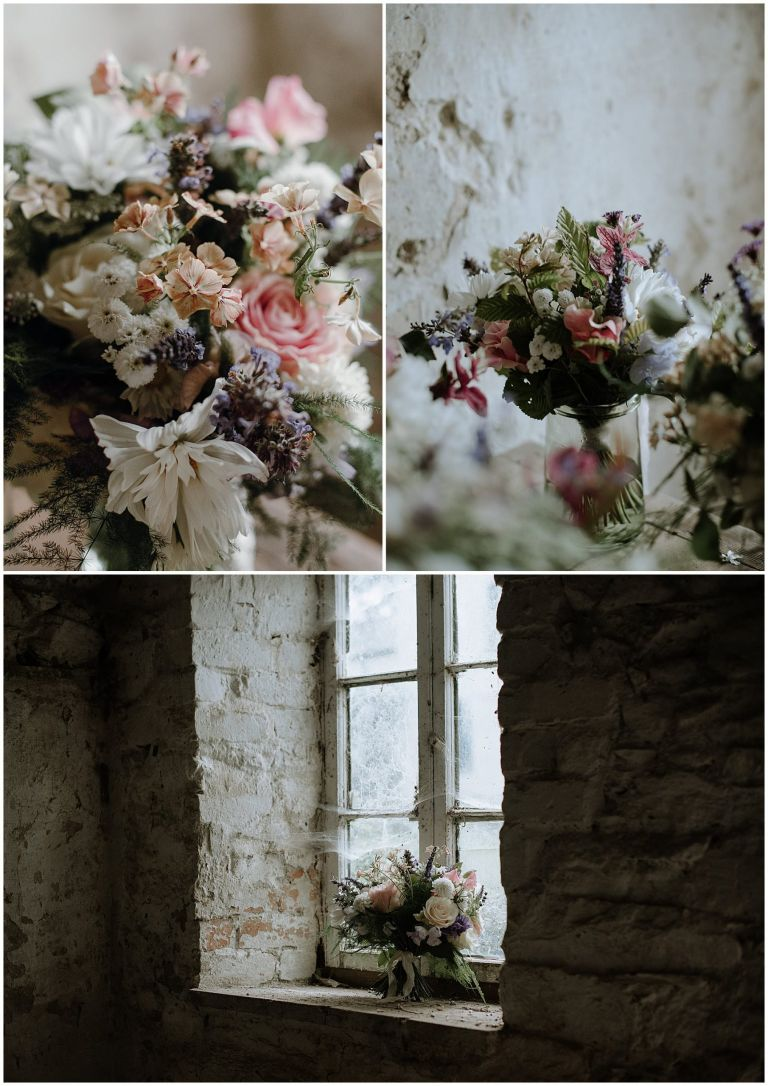 atmospheric window light images of flowers in shed