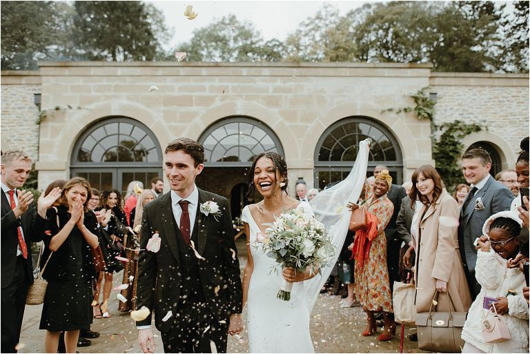 fun relaxed confetti moment