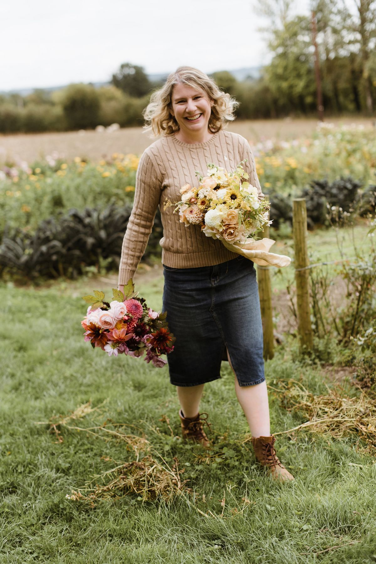 Lady in field with flowers